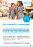 Cover: Flyer: Schulisches Mobilitätsmanagement