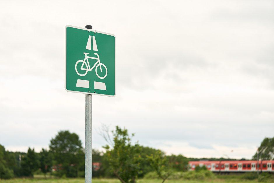 Verkehrsschild Fahrradschnellweg