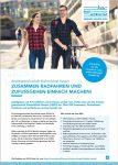 Cover: Flyer: Zusammen Radfahren und Zufussgehen
