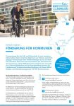 Cover: Flyer: Förderung von Kommunen